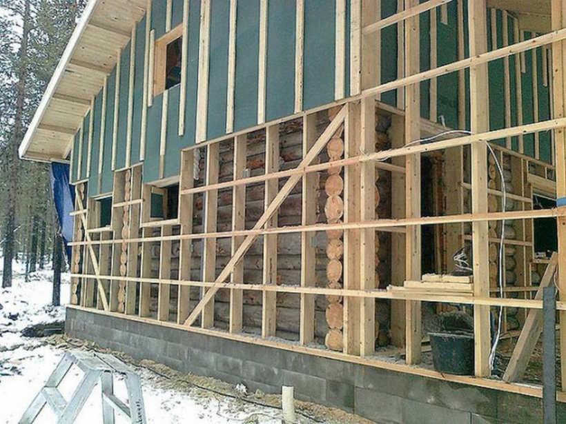 Утепление фасадов деревянных домов своими руками 951