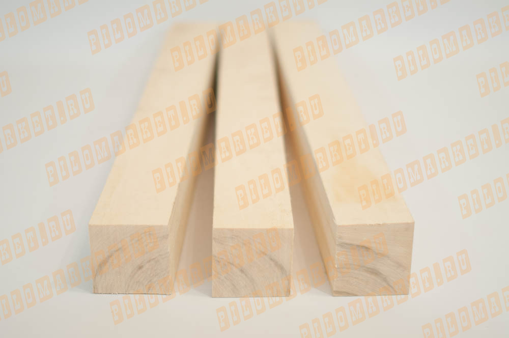 Обрезной брус 90 х 90 осина (ТУ)