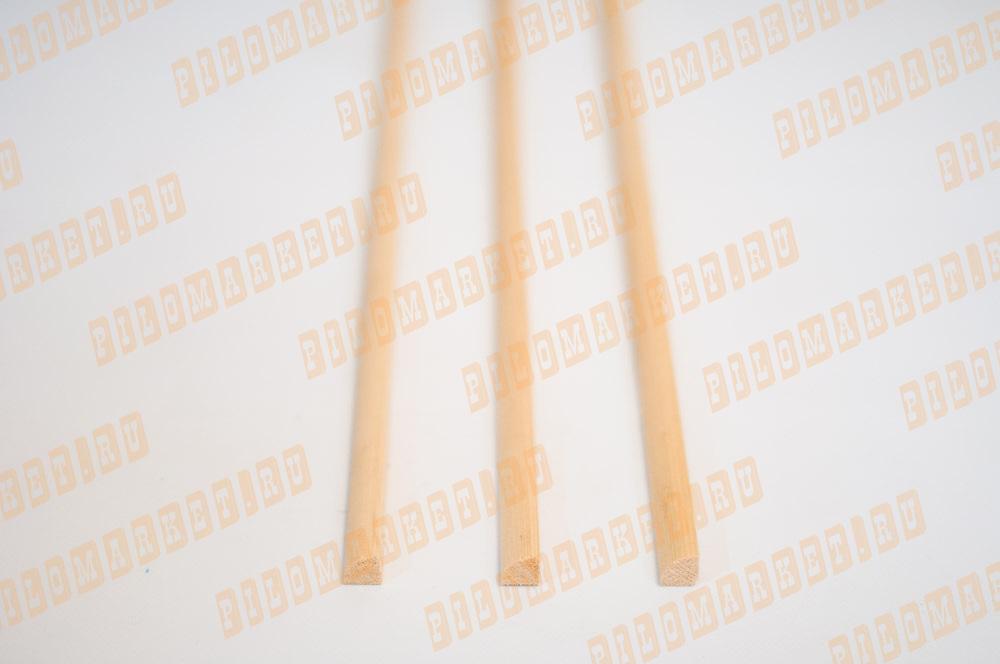 Штапик (полувалик) 20 с сучками массив