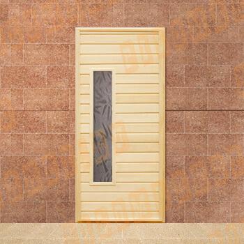 Двери из липы со стеклом 170-190х70 см